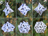 Pinwheel Dice Ornament Set 3d printed