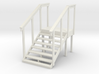 MOF Red Barn Stairs White -72:1 Scale 3d printed