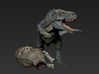 Hunting tyrannosaurus middle size 3d printed