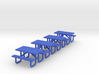 Picnic Table 5ft Metal Ftame - HO 87:1 Scale Qty ( 3d printed