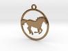 Horse Pendant 3d printed