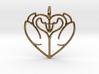 Swan Heart Pendant 3d printed Swan Heart Pendant