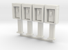 Phone Booth in O Scale, 4 pack 3d printed