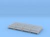 Bench type A - N ( 1:160 scale )16 Pcs set  3d printed