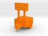 Construction Arrow - Trailer - HO 87:1 Scale 3d printed