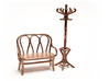 Pair of 1:48 Bentwood Settees 3d printed Looks great with our hatstand, sold separately