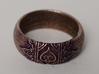 Ace Ring_Henna 3d printed Stainless antiqued with purple acrylic