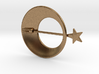 Eclipse With Shooting Star Brooch 3d printed