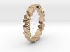 "Stackable ""Throbs"" Ring 3d printed"