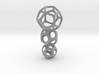 Interlocked Platonic Pendant - 3pts 3d printed