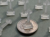 Celtic Cross N-Scale 1:160 3d printed Size comparison with GB 5 pence piece.  Note: items are sold individually.