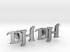 Monogram Cufflinks DH 3d printed