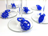 Protist Wine Charms 3d printed Protist wine charms in blue nylon plastic