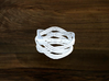 Turk's Head Knot Ring 4 Part X 4 Bight - Size 9 3d printed