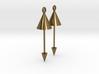 Earrings - Pendulum Dangle Earrings 3d printed