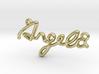 ANGELA Script First Name Pendant 3d printed