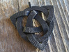 Medium Triquetra Pendant 3d printed Matte Black Steel