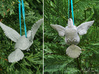 (Mythical) Turtle Dove Sculpture and Ornament 3d printed Ribbon not included; suggest to pair with 1/8th inch ribbon.