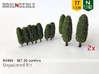 SET 20x Conifers (N 1:160 - TT 1:120) 3d printed