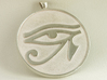 eye of horus 3d printed printed in polished silver