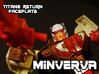 Minerva Faceplate (Titans Return) 3d printed Hand painted frosted ultra detail