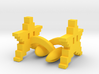 8bit STAR Cufflinks 3d printed