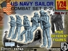 1-24 US Navy Sailors Combat SET 2-31 3d printed