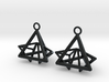 Pyramid triangle earrings type 12 3d printed