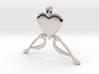 LOVE Birds Symbol Customizable Initial Monogram  3d printed