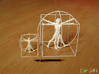 200mm High Vitruvian Man 3d printed Next to 100mm version