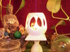 """Mystic Altar Oil Lamp """"Phi"""" 3d printed Highly reflective and easy to clean, white porcelain is perfect for oil lamps."""