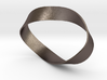 Flat Steel Mobius Band 3d printed