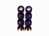 Helix Dangle Earrings V1 3d printed Printed in Violet Polished Nylon