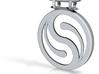 Yin Yang Swirl Design Pendant 3d printed