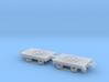 1:76 / 009 Decauville bogies (pair) 3d printed