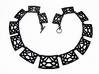 Necklace -  Statement necklace ready to wear 3d printed Trellis Statement Necklace