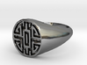 Wealth - Lady Signet Ring 3d printed