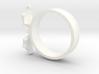 Mid Flight Bat Ring 3d printed