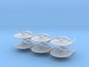 1/7000 Korolev Heavy Cruiser TMP - 6 ships pack 3d printed