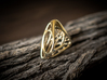 Butterfly Ring [ Size 6 ] 3d printed Material : Polished Brass