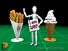 16 ICE & FRIES display stands (1:87) 3d printed ICE & FRIES display stands - size reference