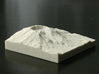 3'' Mt. St. Helens, Washington, USA, Sandstone 3d printed Photo of actual 3D print, view from Northeast