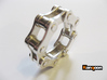 Violetta L. - Bicycle Chain Ring 3d printed Polished Silver printed in US 9  / for sale is US 13
