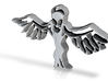 Aliens are the Angels with spread  wings pendant 3d printed