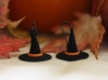 Witch's Hat Earrings - Paired 3d printed
