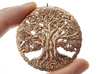 Tree of Life Pendant 3d printed Raw Brass