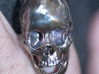 Human Skull Ring Open Jaw (size 8.5 - 9) 3d printed