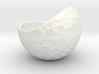 Porcelain plant pot #12 (size XL, round) 3d printed