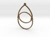 BlakOpal Open Teardrop Earring 3d printed