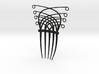 Art Deco/Art nouveau inspired hair comb 3d printed